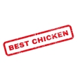Best Chicken Text Rubber Stamp vector image vector image