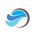 blue water waves logo icon vector image vector image