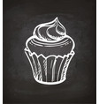 chalk sketch of cupcake vector image