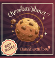 chocolate planet advertising poster template vector image