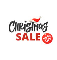 christmas advertising design christmas sale vector image