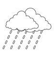 cloudburst icon outline style vector image