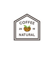 coffee nature house logo vintage template vector image