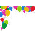 colorful party balloons background vector image