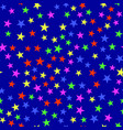 colorful star seamless pattern vector image