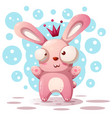 cute rabbit princess - cartoon vector image