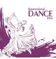 dance day ballroom dancing standard vector image vector image