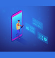 data insight concept isometric vector image vector image
