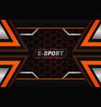 e-sports style modern futuristic background dark vector image vector image