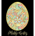 easter egg on black background vector image vector image