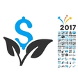 Eco Business Startup Icon With 2017 Year Bonus vector image