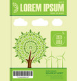 ecology theme design for flyer or leaflet vector image