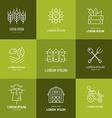 Farming Logotype vector image vector image
