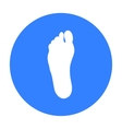 Foot icon in black style isolated on white vector image vector image