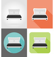 furniture flat icons 11 vector image vector image