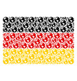 germany flag collage of earth items vector image