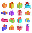 gift boxes birthday present box wedding or xmas vector image