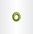 green black letter o or number 0 zero logo icon vector image vector image