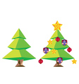 Green Polygonal Christmas Tree vector image