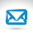 Hand drawn simple mail icon brush drawing vector image