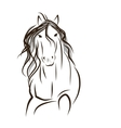 Horse sketch for your design Symbol of 2014 year vector image vector image