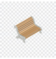 isolated bench isometric seat element can vector image vector image