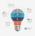 light bulb modern infographic template vector image