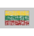 Lithuania flag design concept vector image vector image