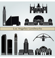 Los Angeles landmarks and monuments vector image
