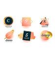 luxury logos or wedding monograms collection vector image