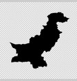 map pakistan isolated black vector image