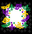 mardi gras elegant black frame place for text vector image