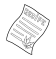 Marijuana recipe icon outline style vector image vector image