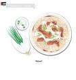 Mensaf or Jordanian Lamb Stew with Rice vector image