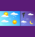 modern realistic weather icons set meteorology vector image vector image