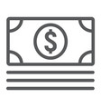 money line icon e commerce and marketing vector image vector image