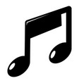 music note icon simple style vector image