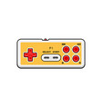 old gamepad icon isolated retro gamepad vector image