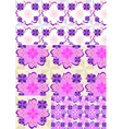 Options shades seamless floral pattern vector image vector image