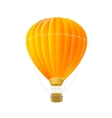 orange air ballon isolated on white vector image