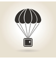 Parachute with the Parcel Icon vector image vector image