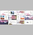 presentations design templates background vector image vector image