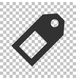 Price tag sign Dark gray icon on transparent vector image vector image