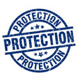 protection blue round grunge stamp vector image vector image