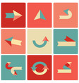retro arrow symbol set in a flat style vector image vector image