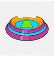 round sports stadium icon cartoon style vector image vector image