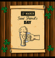 saint patricks day cartoons card vector image
