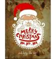 santa claus head merry christmas happy new year vector image vector image
