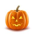 scary pumpkin halloween lantern realistic vector image vector image