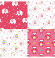 set of baby cute seamless patterns vector image vector image